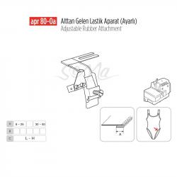 Alttan Gelen Lastik Apara Ayarlı 30mm/ APR80-0A