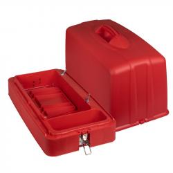 Aile Dikiş Makinesi Plastik Kırmızı Çanta